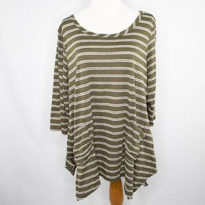 French Laundry sage green ladies knit top (XL)